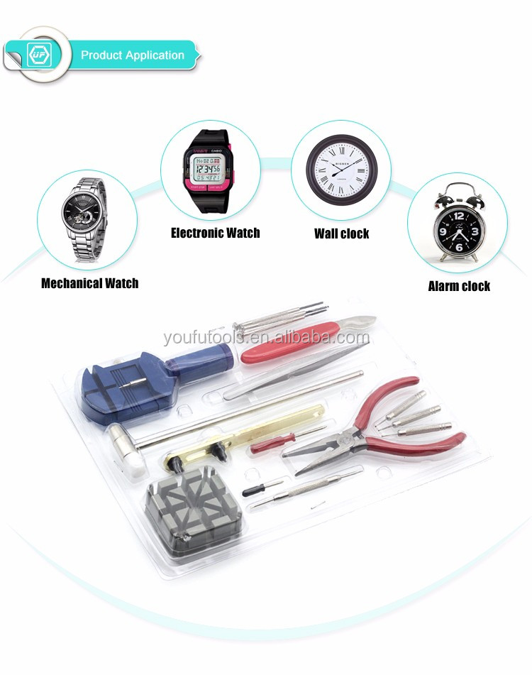 16 in 1 Watch Repair Kit for watch band adjustment and Back Opener