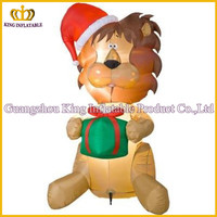 HOT-selling inflatable christmas dog model,inflatable christmas cartoon dog for outdoor decoration