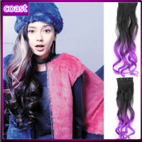 cheap fashion europe ombre curly synthetic two tone hair extension