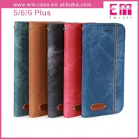Wallet Cowboy Case For iPhone 6/6 Plus, Wallet Leather Case For iPhone 5, For iPhone 6 Stand Case