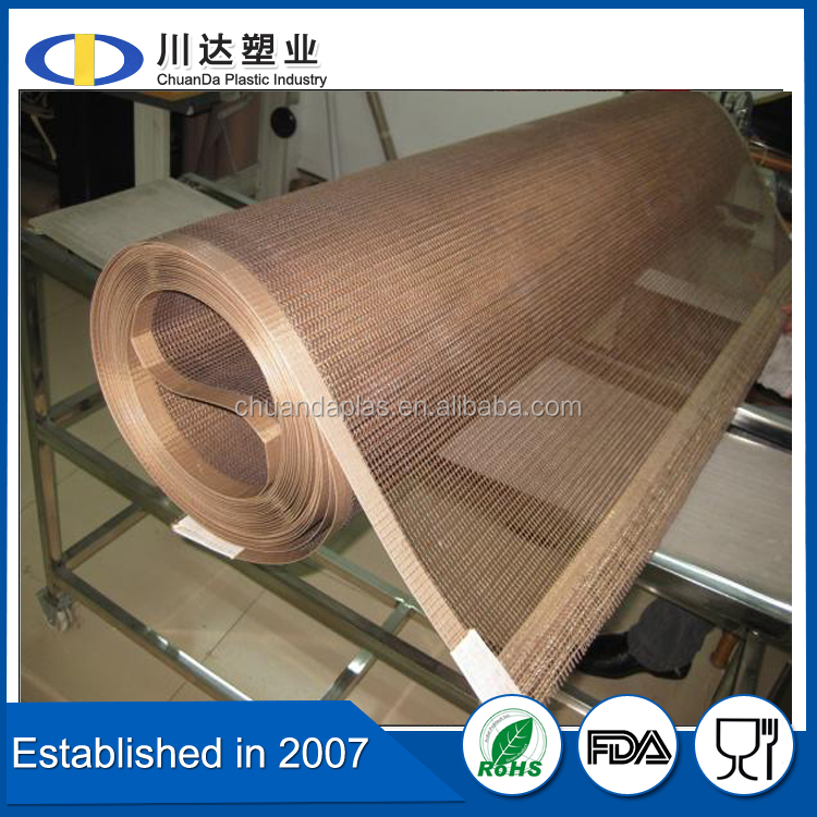 China wholesale high temperature resistance teflon mesh conveyor belt