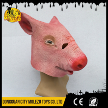 High Quality Cheap Scary Halloween Masquerade Party Latex Animal Pig Head Mask