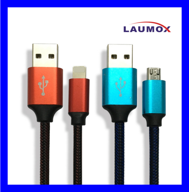 Strong Multi Color Nylon USB Cable for iPhone iPad Android Phone