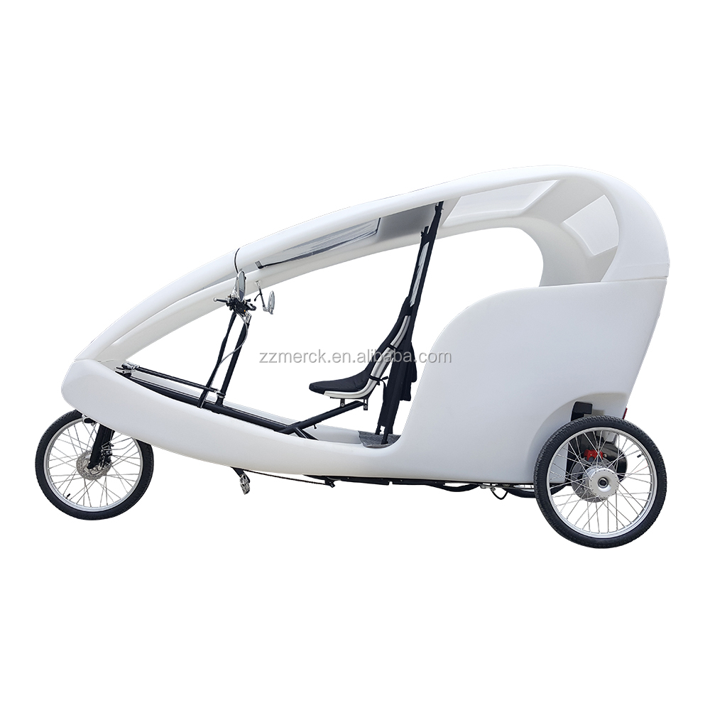 500W 3 Wheel Electric Ticycles Rickshaw City Cruise Used Pedicabs for Sale
