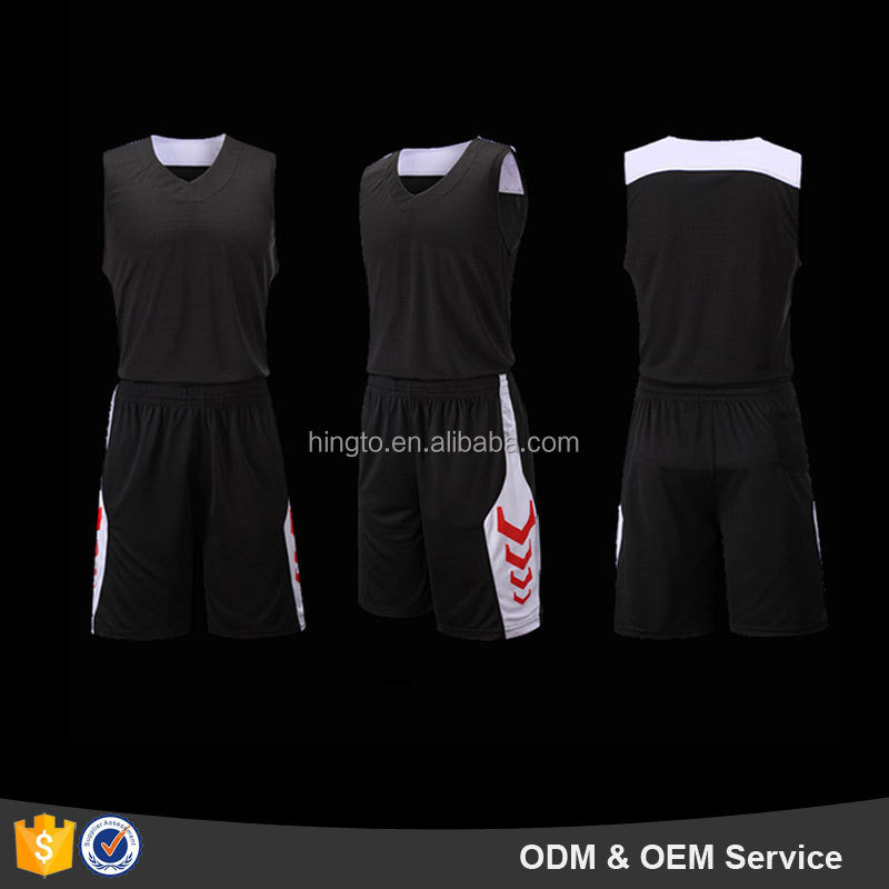 Customized wholesale cheap blank basketball jerseys black