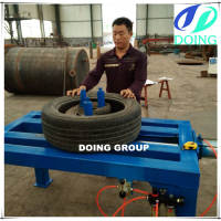 Higher efficiency than tire cutting machine, tire doubling / unpacking machine