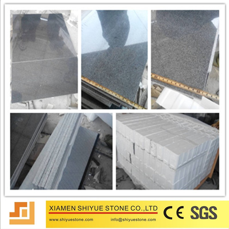 Polished Natural Granite Tile For Floors 16x16