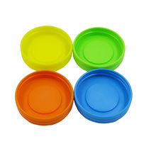 Hot sale new design plastic mason jar lids with nice color BPA free 70mm