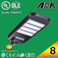 UL DLC TUV SAA 8 years Warranty led solar street light all in one with 120lm/w