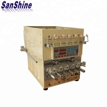 Six spindles automatic fine wire relay coil winding machine with wire twister