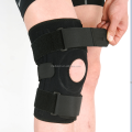 black neoprene hinged knee brace
