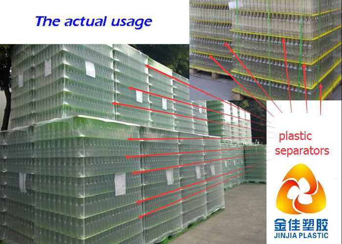 Polypropylene PP fluted honeycomb plastic separator sheets ,layer pads,tier sheets