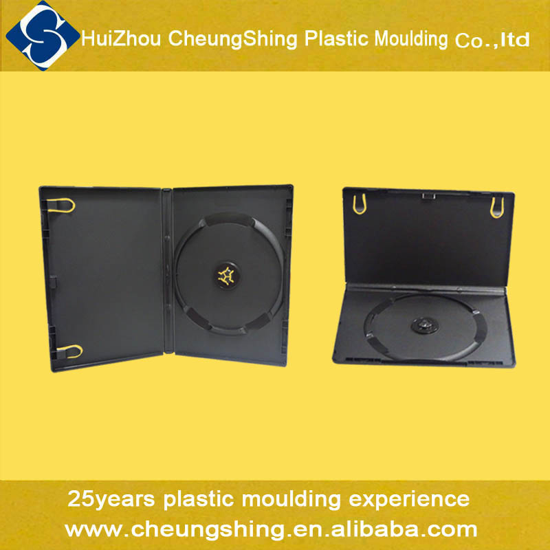 Wholesale 20 years in cd dvd manufacturing field 1 disc plastic black dvd case