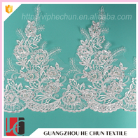 WHB-234-1 Hechun Guangzhou Cotton Bridal Lace Trim for Latest Dress Designs