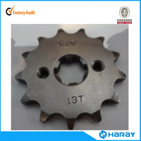Chinese 13T motorcycle chain sprocket set with heat treatment