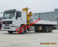 HOWO 8T Lifting Truck Crane with Dump Cargo XMCG Crane Truck For Sales