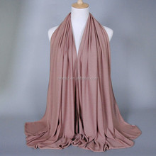 Wholesale in stock islamic cotton hijab fancy head wear muslim no tassel scarf