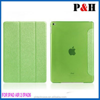 2015 new arrival folio leather cover with hard back case for iPad air 2 /iPad 6
