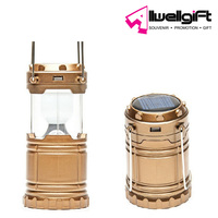 LED camping decorative light New foldable emergency portable solar lantern household small USB lantern