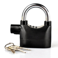 16 Anti Thief Sound Security Motorcycle padlocks alarm lock with master key