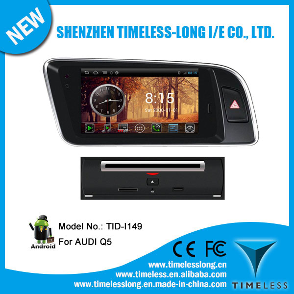 Android 4.0 1080P Touch screen in dash car dvd player for AUDI Q5 with GPS, RADIO,BT, PHONEBOOK, 3 Zone POP