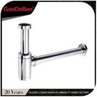 Gaodebao brand haodi factory sink siphon bottle trap for wash basin