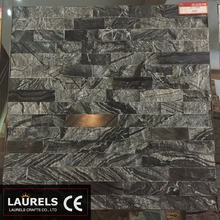 Black Texture Stone Natural Culture Stone Marble Stone for Shower Decorative
