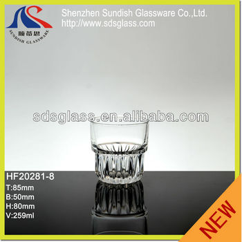 259ml machine pressed high quality whisky glass