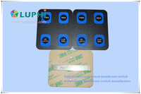 tactile membrane keypad switch with metal domes