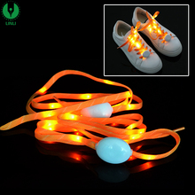 Led Nylon Beautiful Elastic Led Shoelace With Battery, glowing shoe laces