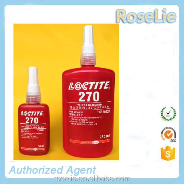 loctite 270 stud 'n' bearing fit, 270 high strength threadlocking, loctite 270 anaerobic thread locker adhesive
