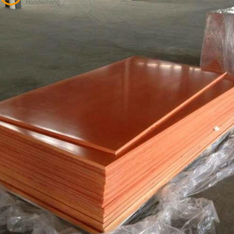 China manufacturer insulation material orange phenolic laminated paper sheet