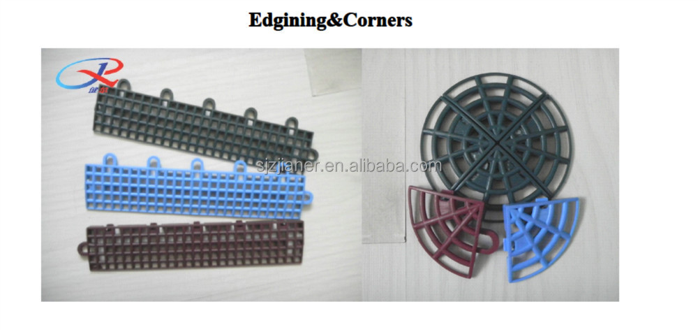 Professional Anti-slip/Anti-agging and multi-purpose PP modular suspended interlocking plastic flooring