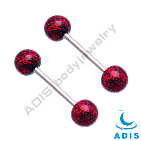 Wholesale Straight Glitter Steel Tongue Barbell Bars