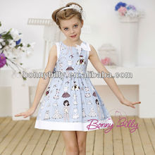 girls puffy dress for kids, blue boutique clothing sexy girls children wear