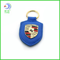 hot wholesales UK custom promotion blue leather kaychain CLY-80