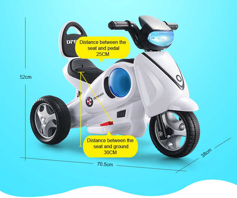 New ander kids favorite three wheel children electric ride on car with cheap price