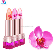 6Pcs Flower Essence Crystal Brand Lipstick Lasting Moisturizing Lips Temperature Change Lip Stick Lips Balm <strong>Cosmetics</strong> Wholesale