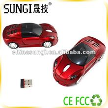 2012 Promotinal gift Wireless computer Car shape usb optical mouse