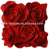 HOT! high-end of red applique and embroidery cushion