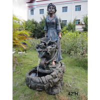 Fiberglass large figure statue garden landscape water fountain