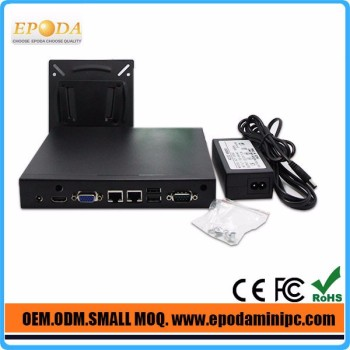 Lowest Factory Price Mini ITX Case Fanless Ubuntu Mini PC X86 With 1037u OpenELEC Kodi use as Set-Top Box HTPC