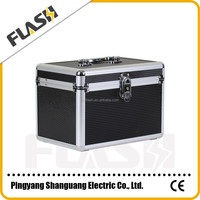 All Black Professional Manufacture Makeup Case Leather Jewelry Box With Tray