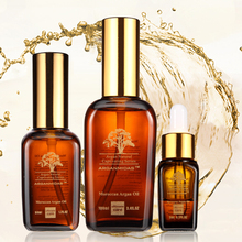 Natural organic essential argan oil products for hair care