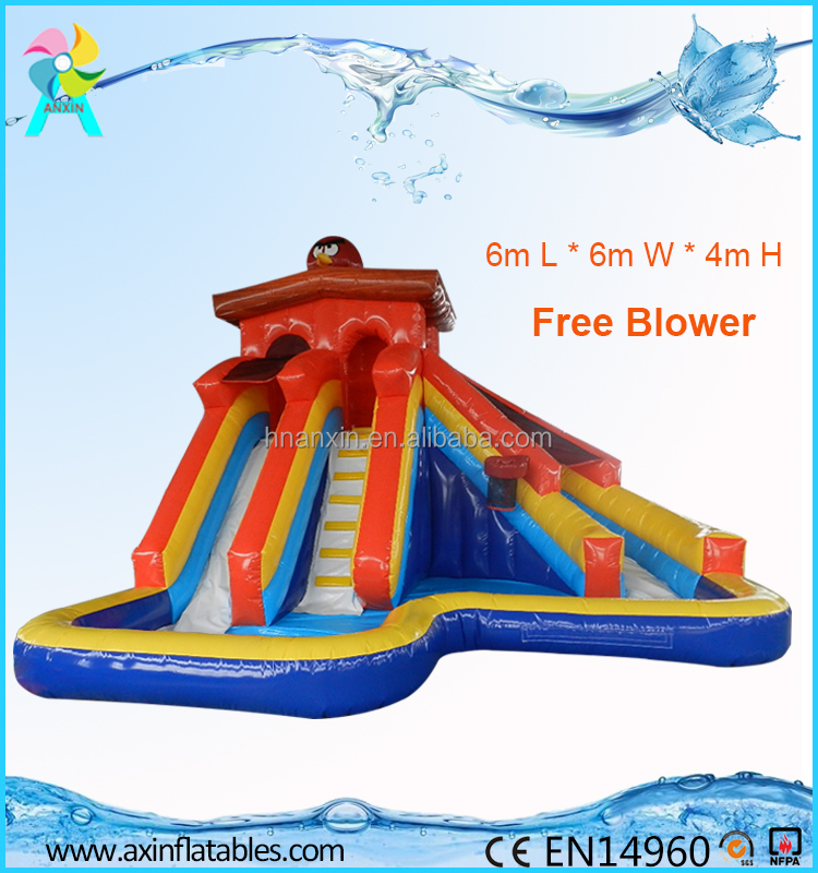 PVC Tarpaulin Kids Banzai Inflatable Water Slide From China