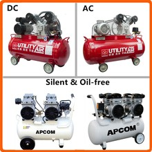 diesel or electric & oil free silent portable compressor piston