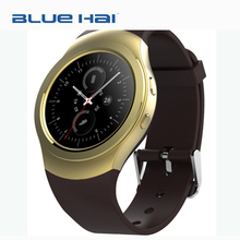 Gold Round Private Lable Smart Watch CPU MTK2502 IOS Smart Watch without Sim Card