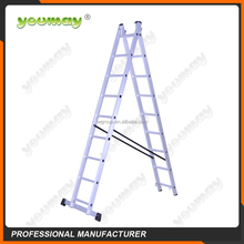 aluminum lightweight double telescopic ladder with en131 approved