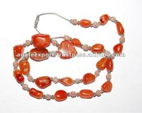 Akik Necklace Khambhat : Agate Export Khambhat