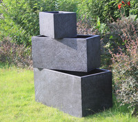 Garden decor square textured flower container box